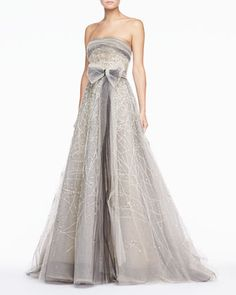 Gray wedding dress. This thing is ridiculous and ostentatious and I absolutely love it.  The price tag is STEEP, gak.