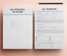 Wedding Planner Printable - Ultimate Printable Wedding Planning Kit: 37 Modern Organizer Pages, Checklist, Budget A4/Letter INSTANT DOWNLOAD par CrossbowPrintables sur Etsy https://www.etsy.com/fr/listing/210892372/wedding-planner-printable-ultimate