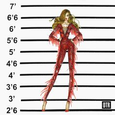 "For the performance of ""Ring the Alarm"" during the On The Run show, Beyoncé takes the stage in a couture Vrettos Vrettakos 'crystal spirit' bodysuit designed by Dennis Kolpodinos.The red look is complete with fringe details on the limbs and is embellished with Swarovski crystals for stage-ready shine."