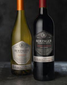 Beringer Founders' Estate Wine Label & Package Design by CF Napa Brand Design