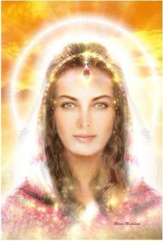 Luminous painting of Mary Magdalene, radiant with love and joy Divine Mother, Mother Mary, Maria Magdalena, Akiane Kramarik, Ascended Masters, Divine Light, Goddess Art, Sacred Feminine, Blessed Mother