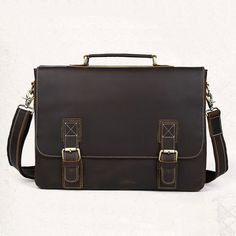 "Image of Handmade Vintage Distressed Leather Messenger Briefcase 14""15"" Laptop Macbook Case--FREE SHIPPING"