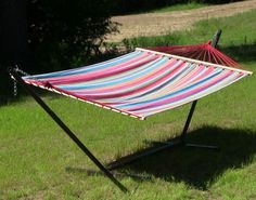 #Hammock With #Stand #Combo #Double #Cotton #SpreaderBar And #ChainKit Included New