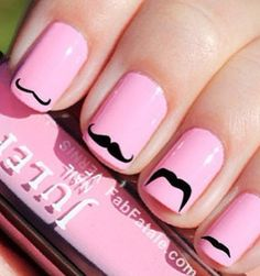 Mustache nails!!!!!!!!!!!!!!!!!!!!!!!!!!!!!!!!!!  <3 <3 <3