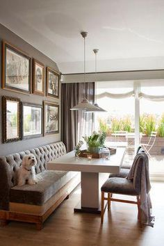 Living Room Bar and Terrace – Family Rooms Ideas Living Room Bar, Living Room Styles, Home Living, Lounge Design, Küchen Design, Dining Room Design, Dining Room Banquette, Banquette Seating, Corner Banquette