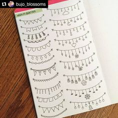 "23 Likes, 1 Comments - Apsi's visual notes & doodles (@therevisionguide) on Instagram: ""#Repost @bujo_blossoms with @repostapp ・・・ Week 17: Bunting #therevisionguide_52wvv #52wvv_week17…"""