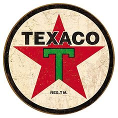 Texaco 36 Round Tin Sign 12 x 12in * You can get more details by clicking on the image.