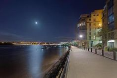MOON OVER DERRY CITY IRELAND By: Kevin Doherty