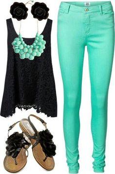 bigchipz.com teal-skinny-jeans-05 #skinnyjeans