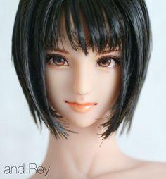 and Rey works Anime Dolls, Bjd Dolls, Doll Head, Doll Face, Pretty Dolls, Beautiful Dolls, 3d Model Character, Marvel Comics Art, 3d Girl