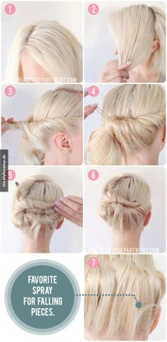 Beautiful updo, easy to try!