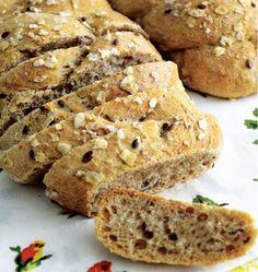 Pão de aveia com linhaça e gergelim