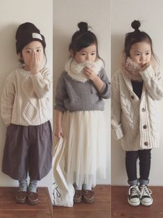nicomicoさんの(korea)を使ったコーディネート Baby Girl Fashion, Preteen Fashion, Toddler Fashion, Kids Fashion, Cool Kids Clothes, Toddler Girls Clothes, Toddler Girl Outfits, Kids Outfits, Toddler Sweater