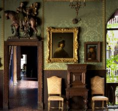 The Dutch Room at the Isabella Stewart Gardner museum with a Rembrandt in sight.