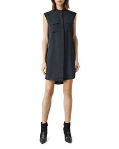 Allsaints Nayo Sleeveless Shirt Dress