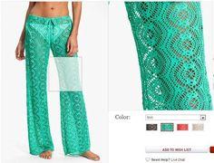 Delicadezas en crochet Gabriela: Pantalón de encaje muestra del punto incluye dos modelos