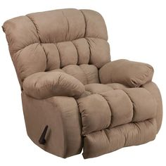 This plush microfiber recliner provides comforting seating with a heavily padded back and arms. Reclining furniture offers the best in relaxation for you to kick up your feet to watch TV, work on a la