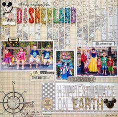 Disneyland scrapbook page layout idea.