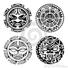 Grupo de tatuagem polinésia
