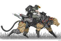 Ideas sci fi concept art animals for 2019 Science Fiction, Character Concept, Character Art, Cyberpunk Kunst, Robot Animal, Wallpaper Animes, Arte Robot, Chevrolet Corvette Stingray, Robot Concept Art