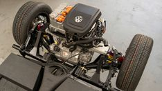Volkswagen has fitted the electric powertrain from its e-Up city car to an original Beetle. The car will be displayed at the Frankfurt Motor Show. Volkswagen Models, Volkswagen Group, Volkswagen Beetle Vintage, Ferdinand Porsche, Porsche 356, Electric Power, Electric Cars, Electric Vehicle, Fusca Motor Ap