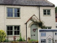 Timber Mock Sash Windows - Durham, Newcastle upon Tyne, North East - Returning a House to its Former Look - Blackthorn Timber Green Windows, Timber Windows, Sash Windows, Windows And Doors, Upvc Windows, Exterior Windows, Wooden Windows, Bedroom Windows, Victorian Windows
