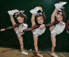 Baby cheerleader... WOW! I'm like jealous of a 4 year old!!!