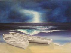 Gewitterstimmung am Meer von Atelierbarbara1 auf Etsy
