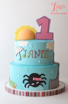 Itsy Bitsy Spider Cake for 1st Birthday Party!! So cute!