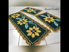 Bohemian Rug, Projects To Try, Youtube, Home Decor, Kitchen Playsets, Crochet Leaf Patterns, Crochet Dollies, Easy Crochet, Kitchen Sets