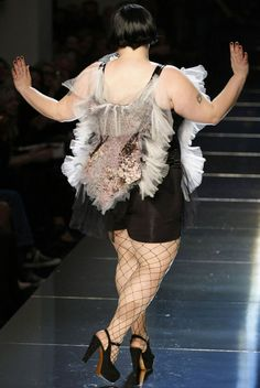 Beth Ditto for Jean Paul Gaultier S/S 2011 #plussize #fashion #models