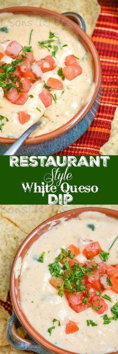 The perfect copy cat, this Restaurant Style White Queso Dip is flavorful with that thick, creamy consistency you're craving. It's also surprisingly simple, to make and to adore.