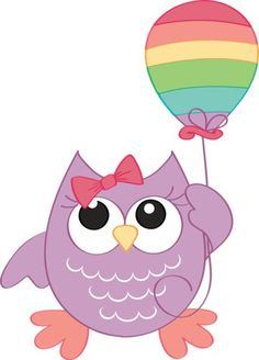 Owl with balloon Birthday Clips, Owl Birthday Parties, Happy Birthday, Owl Clip Art, Owl Art, Owl Classroom, Owl Pictures, Beautiful Owl, Cute Owl