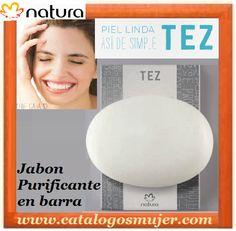 Tez - JABÓN PURIFICANTE EN BARRA 3 en 1 Acción 3 en 1: ■ Limpia y reduce el brillo. ■ Tonifica. ■ Hidrata. Para ti a solo S/. 17.90