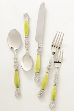 We're dying over this bright flatware set!