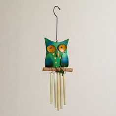 One of my favorite discoveries at WorldMarket.com: Metal Owl Wind Chime