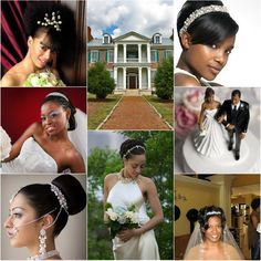 updo bun with tiara for wedding hairstyles #blackwomen #hairstyle