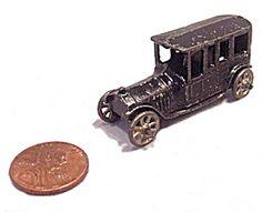 Prewar 1909-1911 Tootsietoy Penny Toy Limousine / Car