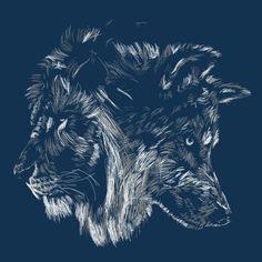 Camiseta 'The Wolf is King'.   Lindaaaa, eu amei ♥
