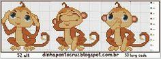 Ponto cruz macaco