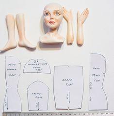 Сегодня мы смастерим снегурочку под нашу елку в смешанной технике. Не буду писать длинное предисловие, у нас с вами очень много работы :) Итак, начнем... Для удобства просмотра мастер-класса, мы разделим его на главы по виду деятельности: 1. Сборка тела. 2. Парик для куклы и работа с волосами. 3. Одежда для куклы. 4. Обувь и аксессуары. 1. Сборка тела Материалы: фаянсовая заготовка; краски; телесная х/б ткань; клей; телесное кружево; синтепух.