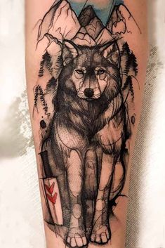 The best thing about tattoos is that you can combine any ideas you have together to create something unique and meaningful only for you. Do you love Anime and Wolves? Then why don`t you use them both as an inspiration source for a new tattoo? Anime Tattoos, Music Tattoos, Wolf Tattoos, Tatoos, Wolf Tattoo Sleeve, Sleeve Tattoos, Wolf Tattoo Design, Tattoo Designs, Tattoo Drawings