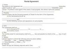 free residential lease agreement forms to print - Google Search