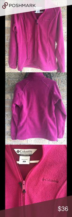 NEW Columbia Fleece Magenta Pink sz Small Never worn Fleece jacket by Columbia! Size small. Columbia Jackets & Coats
