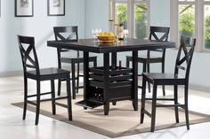 Counter Height Table & Chairs 104838 - 1