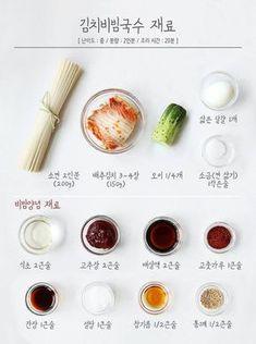 상상만으로도 침샘 폭발! 새콤달콤 국민야식 [김치비빔국수] – 레시피   다음 요리 Cold Noodles, Korean Food, Korean Recipes, Clean Eating, Eating Well, Tasty, Yummy Food, Light Recipes, Kimchi