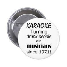 Karaoke Into Musicians Button