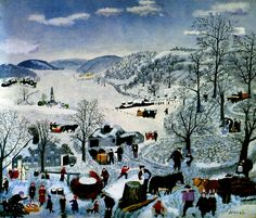 Sugaring Off, 1943 --Shenandoah Valley (1861 News of the Battle) - Grandma Moses - WikiArt.org
