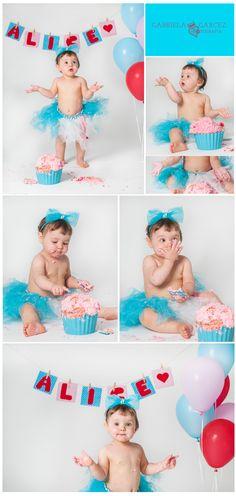Ensaio Cake Smash - Fotografia infantil rj - Alice 1 ano