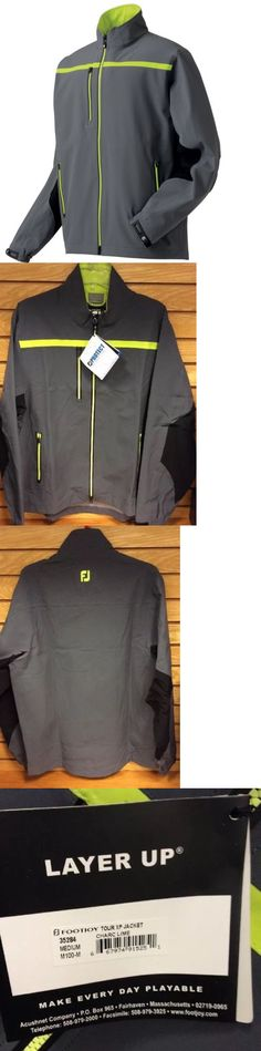 Coats and Jackets 181134: Footjoy Dryjoys Tour Xp Rain Jacket - Charcoal Lime Green - #35284 -> BUY IT NOW ONLY: $89.99 on eBay!